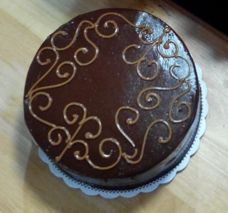 3-chocolate fudge cake from Mom and Tina's