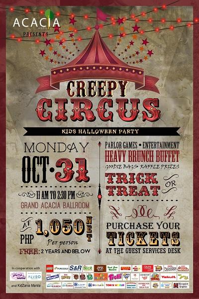 Trick or Treat 2016: Acacia Hotel's Creepy Circus Kids HalloweenParty