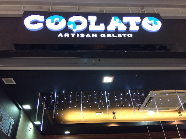 Cooling off at Coolato Gelato, SM City BF Parañaque