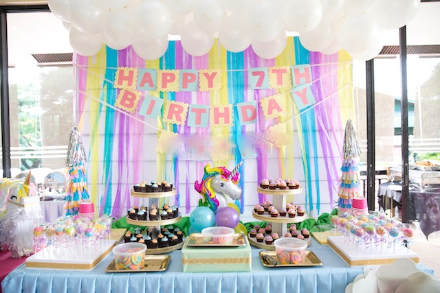 7th Birthday Series: Cake and Dessert Buffet Goodies (BakedTwinkles)